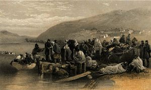 William Simpson - Embarkation of the sick at Balaklava