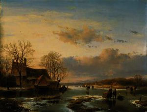 Andreas Schelfhout - On the maas