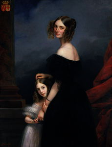Claude Marie Paul Dubufe - Anne-Louise Alix de Montmorency, with her daughter