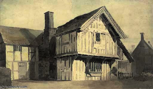An ale house, formerly a chapel by Cornelius Varley (1781-1873, United Kingdom)
