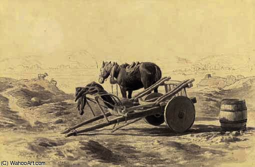 An irish cart by Cornelius Varley (1781-1873, United Kingdom)