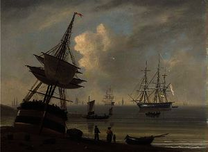 Daniel Turner - Shipping, summer's evening