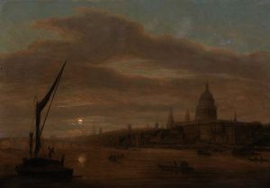 Daniel Turner - St. paul's cathedral from the thames, early evening