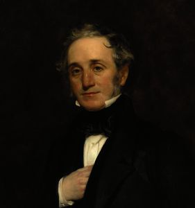 Henry William Pickersgill - Portrait of thomas cubitt , quarter-length, in a black coat and waistcoat