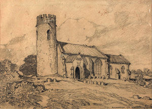 John Sell Cotman - Aylmerton Church; Norfolk, from the South-West