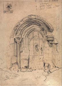 John Sell Cotman - Porch of the Church of Stratton Saint Mary's, Norfolk