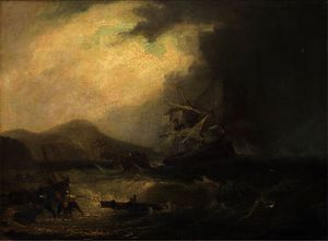 John Wilson Carmichael - Salvaging the wreck off the scottish coast