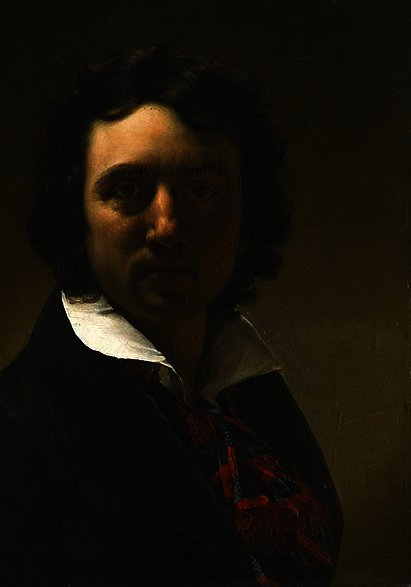Self portrait by Paulin Jean Baptiste Guerin (1783-1855, France)