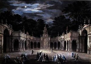 Robert Adam - The illuminations at buckingham house for king george iii-s birthday