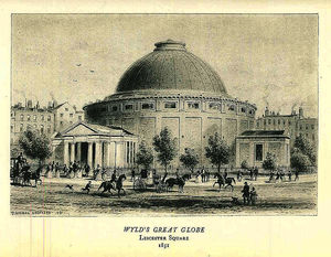 Thomas Hosmer Shepherd - Print of the Great Globe which stood in Leicester Square
