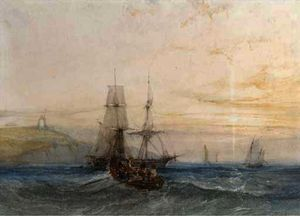 Charles Bentley - Shipping off a coast