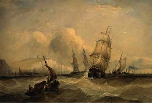 Charles Bentley - The crowded channel off dover
