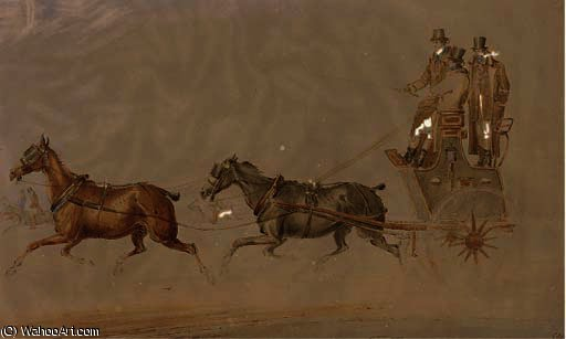 A conversation on the highway; and a coach and four by Charles Cooper Henderson (1803-1877, United Kingdom)
