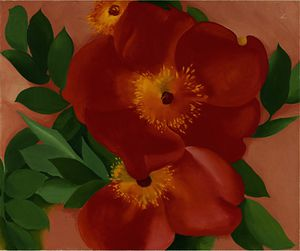 Georgia Totto O-keeffe - Two austrian copper roses iii