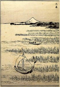 Katsushika Hokusai - Detatched page from One Hundred Views of Mount Fuji