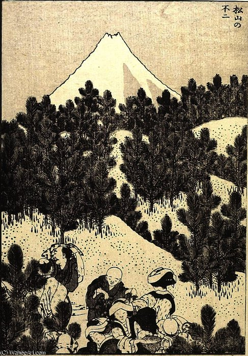 Fuji from a Pine Mountain by Katsushika Hokusai (1760-1849, Japan)