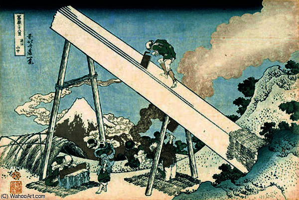 In the Mountain in Totomi Province by Katsushika Hokusai (1760-1849, Japan)