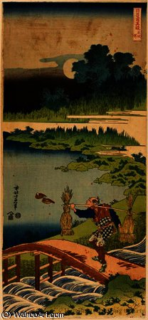 Peasant carrying rushes by Katsushika Hokusai (1760-1849, Japan)