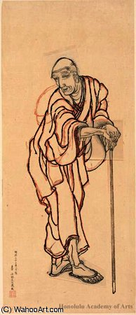 Portrait of Hokusai as an Old Man by Katsushika Hokusai (1760-1849, Japan)