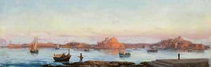 Luigi Maria Galea - Panoramic view of malta