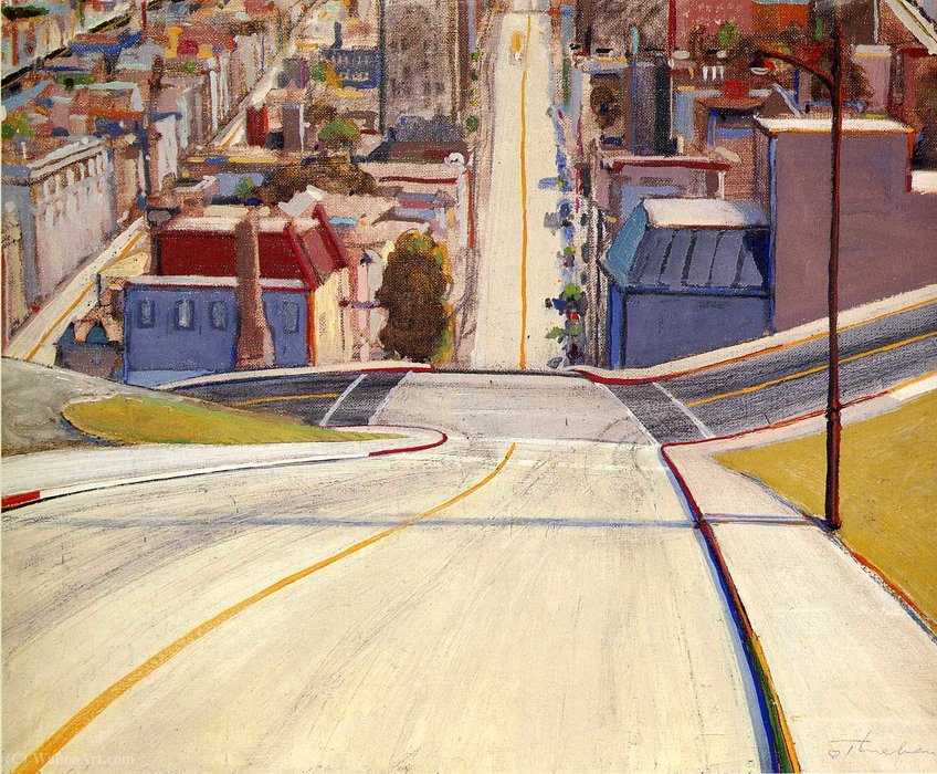 Untitled (700) by Wayne Thiebaud | Art Reproduction | WahooArt.com