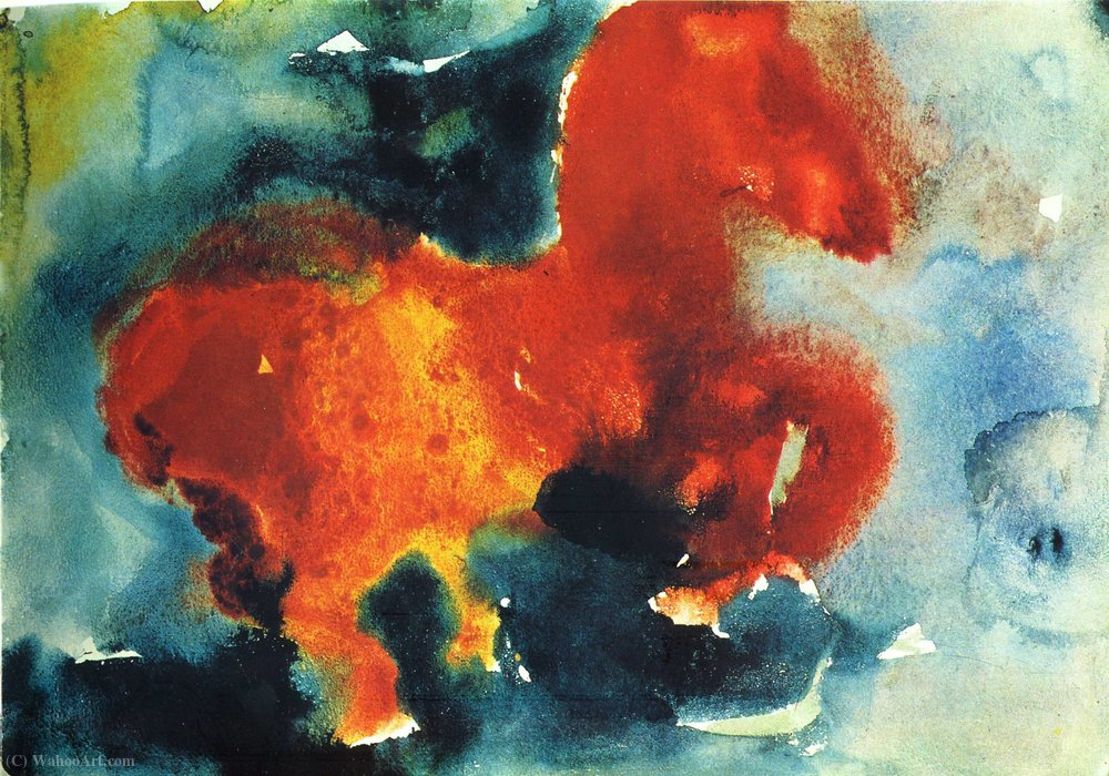 Untitled (749) by Hans Heinrich Hartung (1904-1989, Germany) | Famous Paintings Reproductions | WahooArt.com