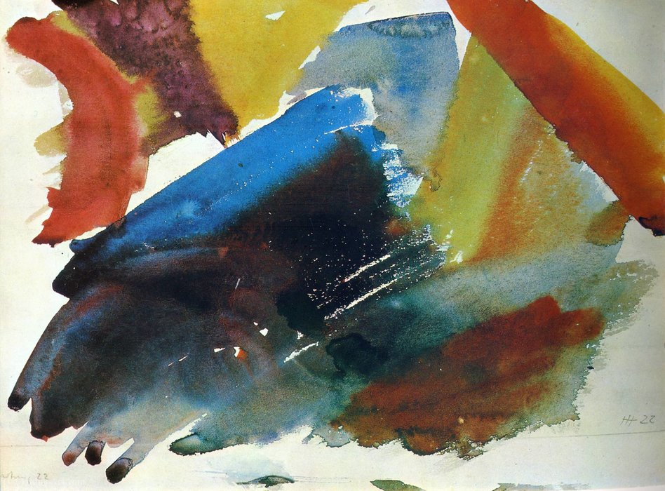 Untitled (352) by Hans Heinrich Hartung (1904-1989, Germany) | Museum Quality Reproductions | WahooArt.com