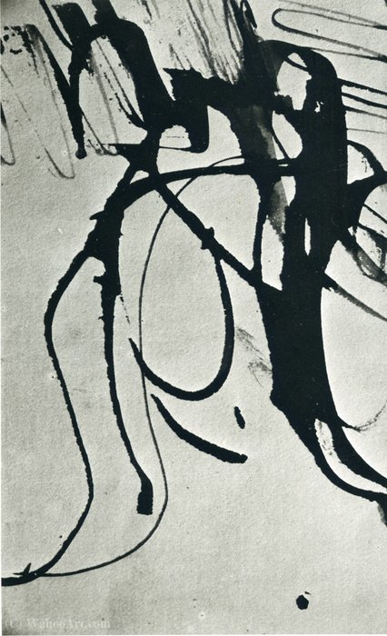 Untitled (675) by Hans Heinrich Hartung (1904-1989, Germany) | Museum Quality Reproductions | WahooArt.com