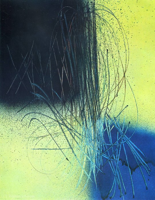 Untitled (126) by Hans Heinrich Hartung (1904-1989, Germany)