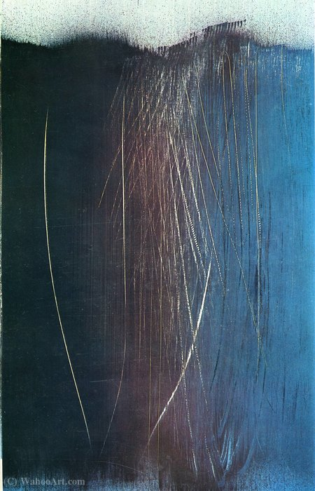 Untitled (152) by Hans Heinrich Hartung (1904-1989, Germany) | WahooArt.com