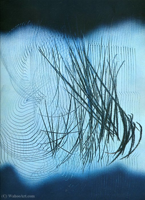Untitled (247) by Hans Heinrich Hartung (1904-1989, Germany) | Famous Paintings Reproductions | WahooArt.com