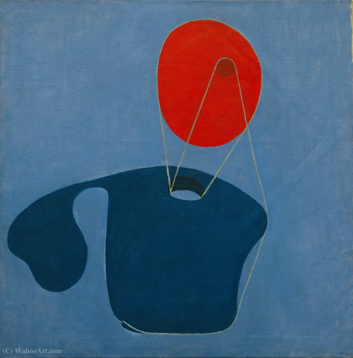 Red head, blue body by Meret Oppenheim (1913-1985, Germany) |  | WahooArt.com
