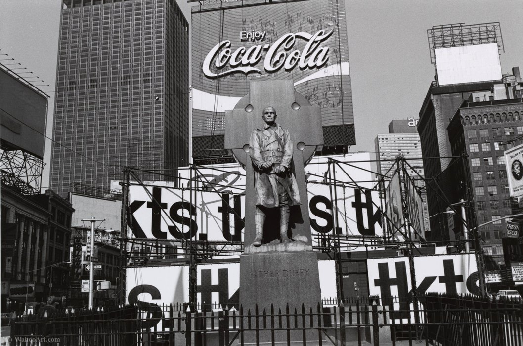 Father duffy. times square, new york city by Lee Friedlander | WahooArt.com