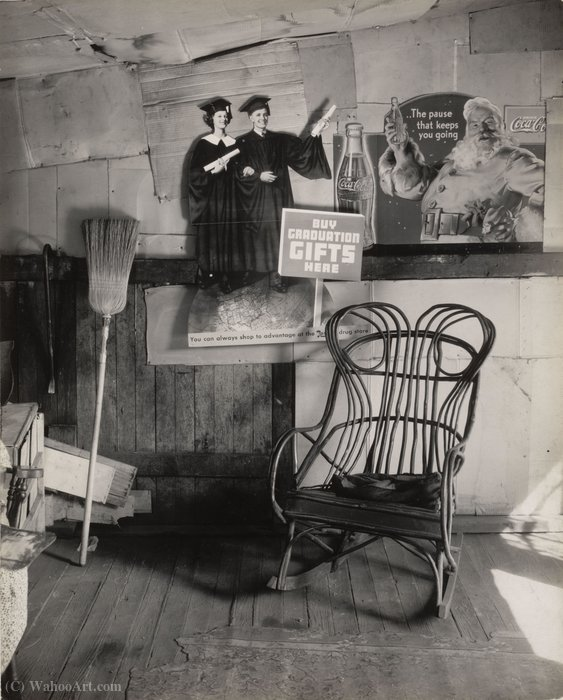 Interior detail, west virginia coal miner`s house by Walker Evans (1903-1975, United States) |  | WahooArt.com