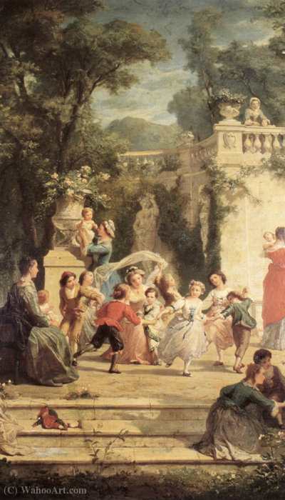 The Games of Summer by Adolphe Jourdan | Art Reproduction | WahooArt.com
