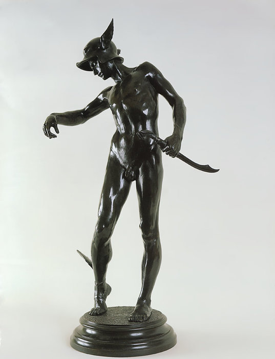 Perseus arming by Alfred Gilbert (1854-1934)