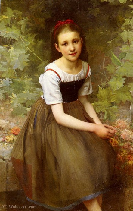 Une jeune fille aux fleurs by Charles-Victor Thirion