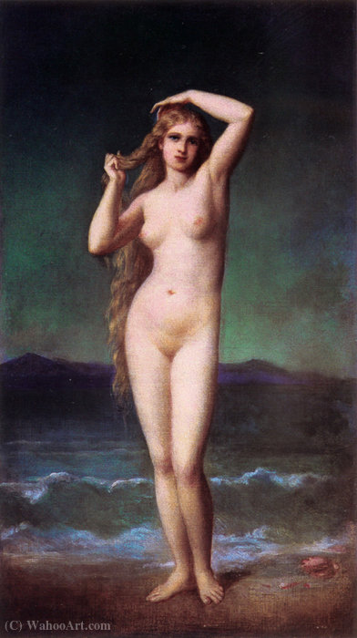 The bather by Eugene-Emmanuel Amaury-Duval (1808-1885) | Reproductions Eugene-Emmanuel Amaury-Duval | WahooArt.com