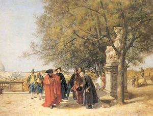 Buy Museum Art Reproductions | Gardens of the Vatican (1870) by Ferdinand Heilbuth (1826-1889) | WahooArt.com
