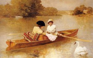 Ferdinand Heilbuth - Heilbut ferdinand boating on the scene
