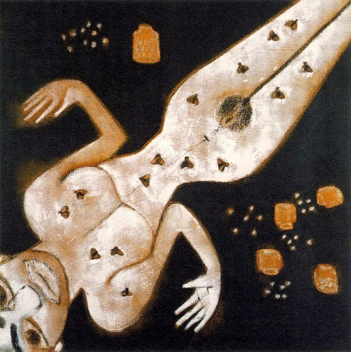 Order Famous Paintings Reproductions : Untitled (131) by Francesco Clemente | WahooArt.com