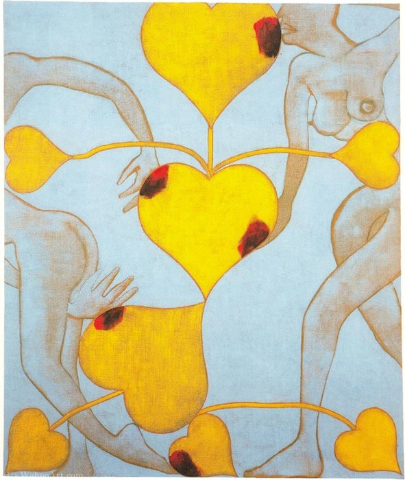 Untitled (998) by Francesco Clemente