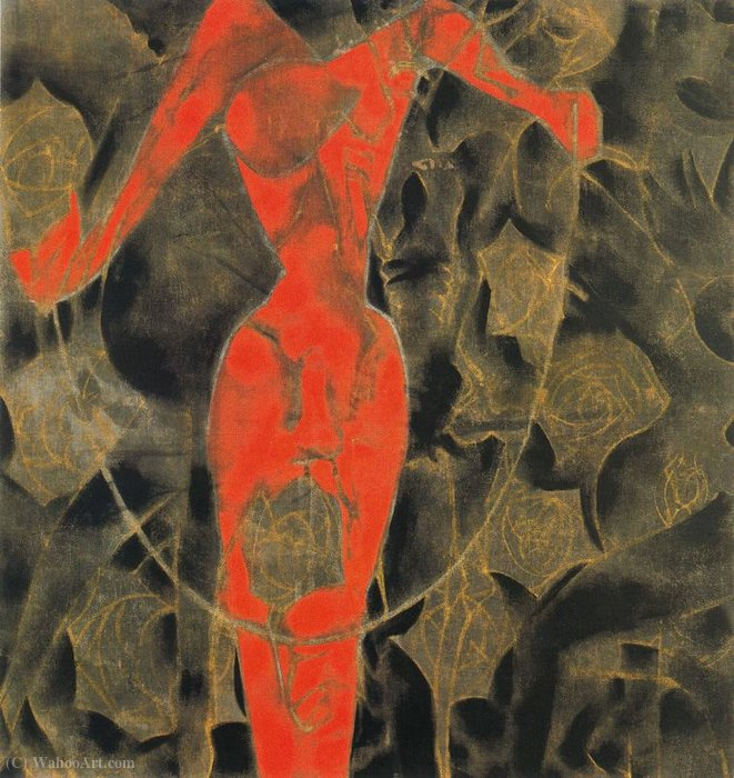 Untitled (641) by Francesco Clemente