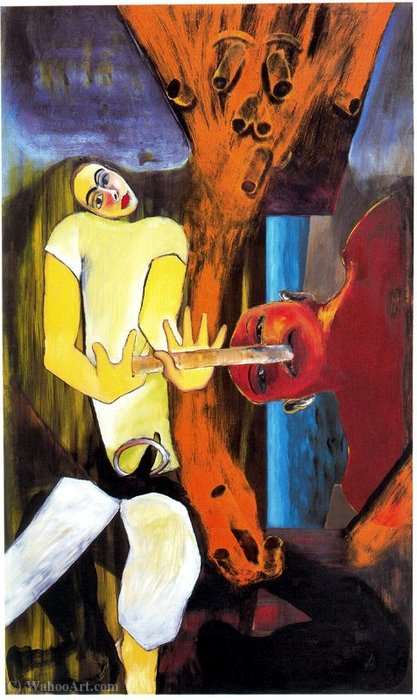 Untitled (635) by Francesco Clemente | Museum Quality Reproductions | WahooArt.com