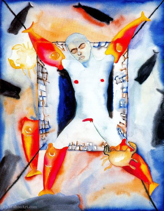 Untitled (888) by Francesco Clemente | Museum Quality Reproductions | WahooArt.com