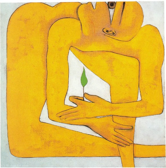 Untitled (420) by Francesco Clemente | Painting Copy | WahooArt.com