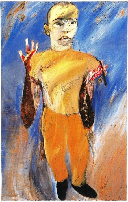 Untitled (665) by Francesco Clemente | Oil Painting | WahooArt.com