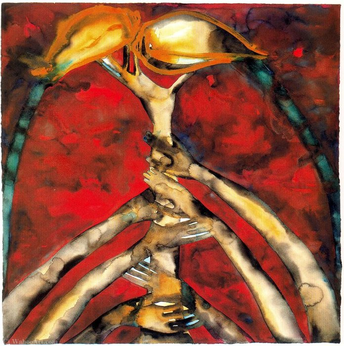 Untitled (866) by Francesco Clemente