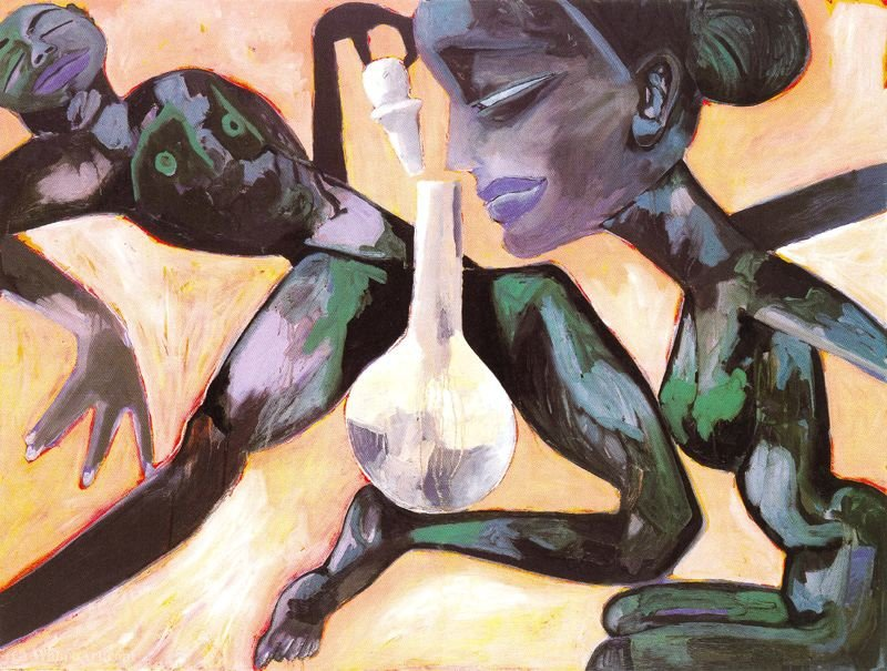 Untitled (556) by Francesco Clemente
