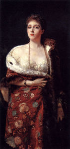 Francesco Paolo Michetti - Portrait of a lady